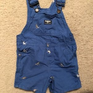 OshKosh Boy's Dino Overall Shorts